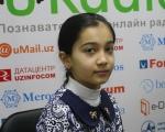 Школьница Джурамурадова Муштарийбону, 4-й класс 163 школы
